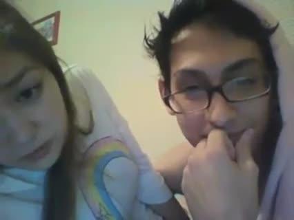 Amateur asian couple on webcam blowjob