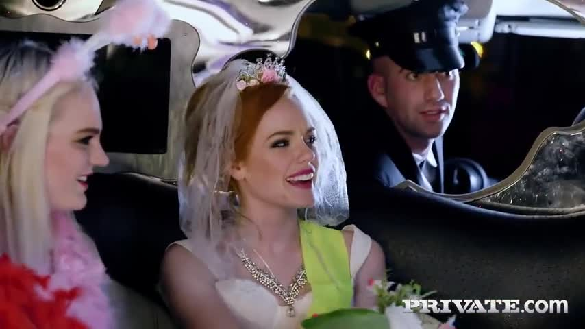 Bachelorette Party group fucking the limo driver