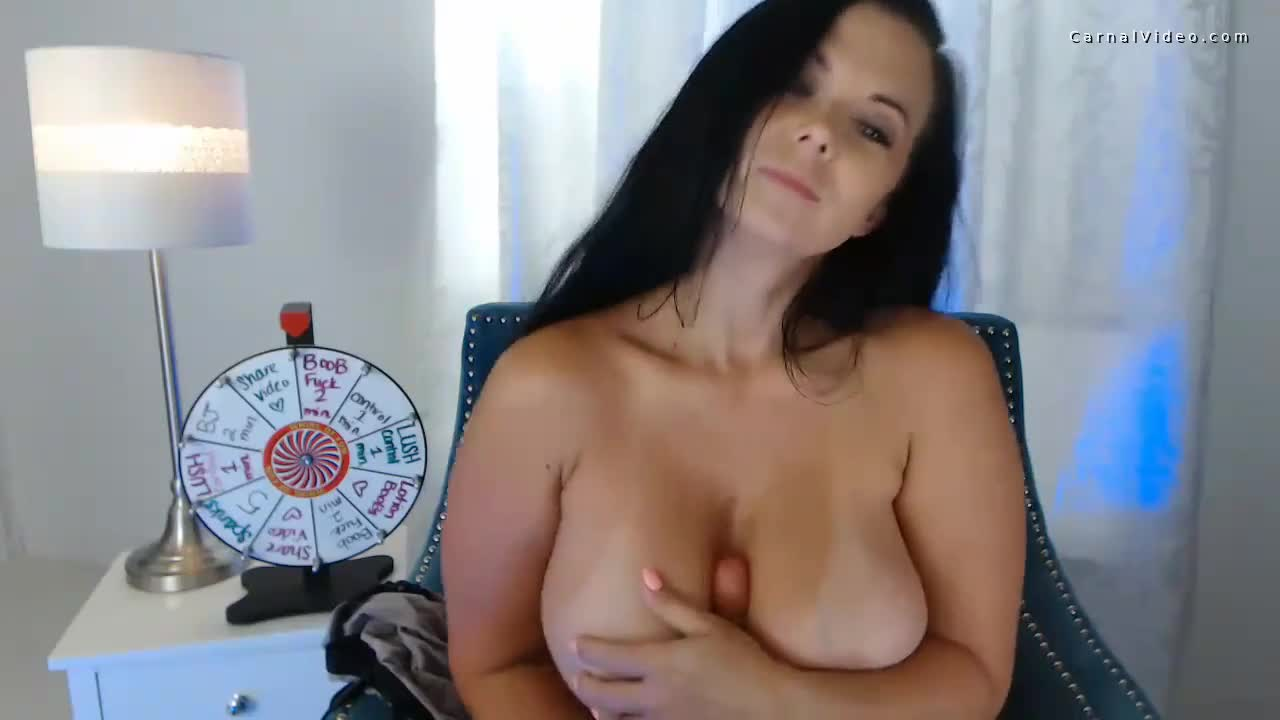 Chubby cam girl playing spin the wheel porn