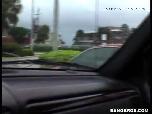 Hot girl that is passing by a car gets picked up for a good fuck